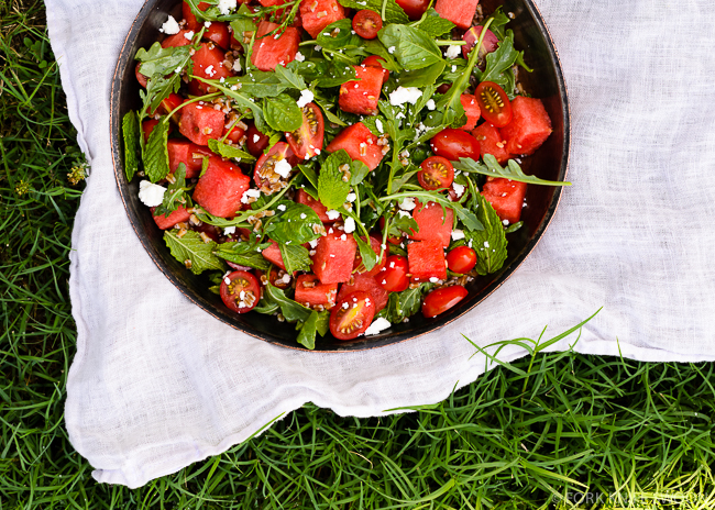 Tomato and Watermelon Salad   Fork Knife Swoon