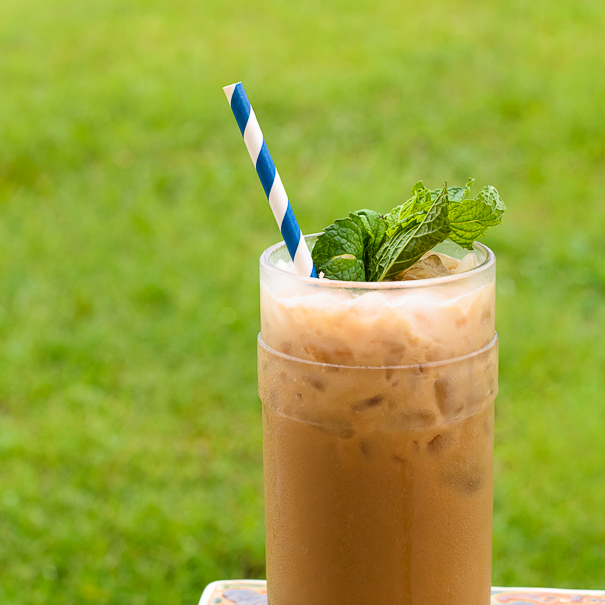Minty Vanilla Coconut Iced Coffee   Fork Knife Swoon