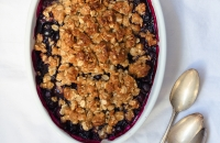 Blackberry and Blueberry Crumble   Fork Knife Swoon