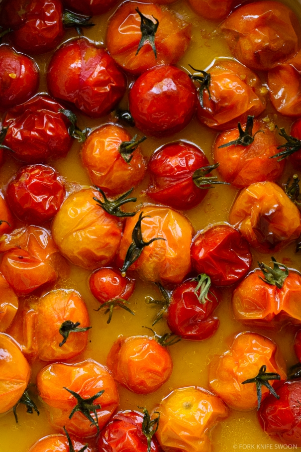 Quick Roasted Cherry Tomato Sauce via forkknifeswoon.com