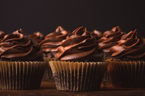 Dark Chocolate Zucchini Muffins… or Cupcakes.
