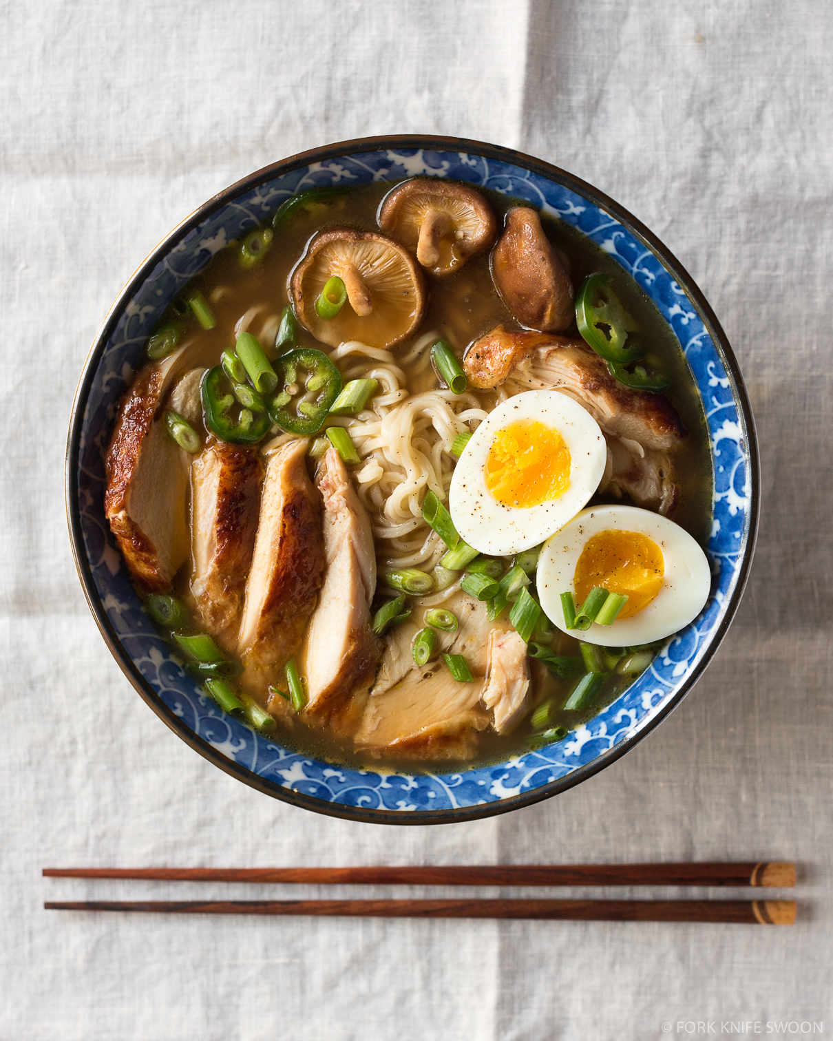 Simple Homemade Chicken Ramen - Fork Knife Swoon