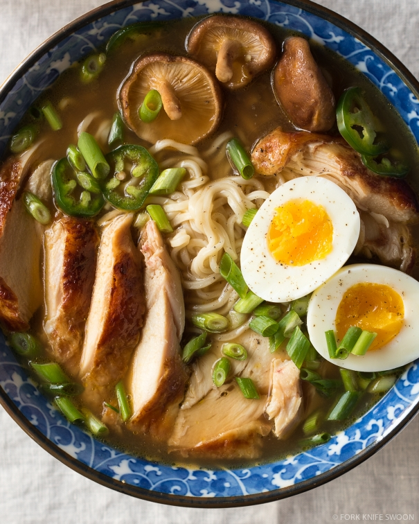 Simple Homemade Chicken Ramen via forkknifeswoon.com