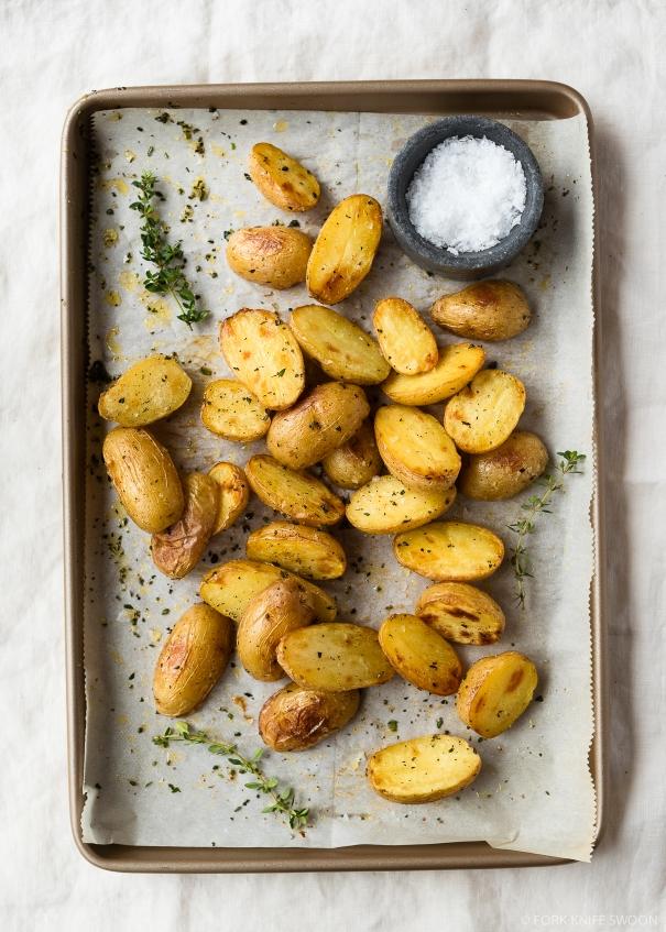 Fool Proof Crispy Herb Roasted Potatoes | Fork Knife Swoon