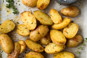Fool Proof Crispy Herb Roasted Potatoes | Fork Knife Swoon