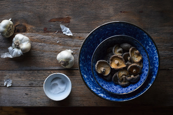 bowl of dried mushrooms