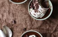 Dark Chocolate Espresso Panna Cotta | Fork Knife Swoon @forkknifeswoon