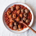 Spanish Style Lamb Meatballs with Spicy Tomato Sauce | Fork Knife Swoon @forkknifeswoon