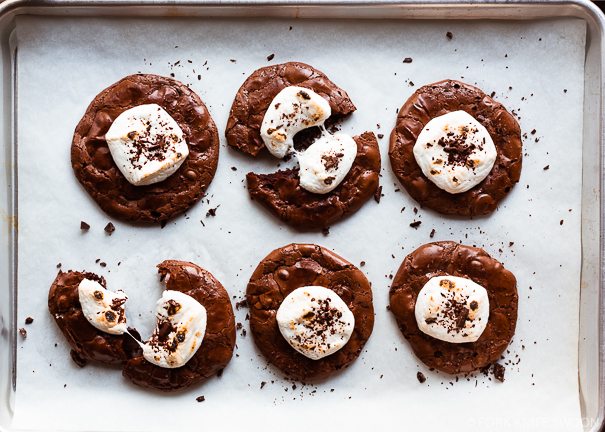 Double Chocolate Hot Cocoa Cookies | Fork Knife Swoon @forkknifeswoon