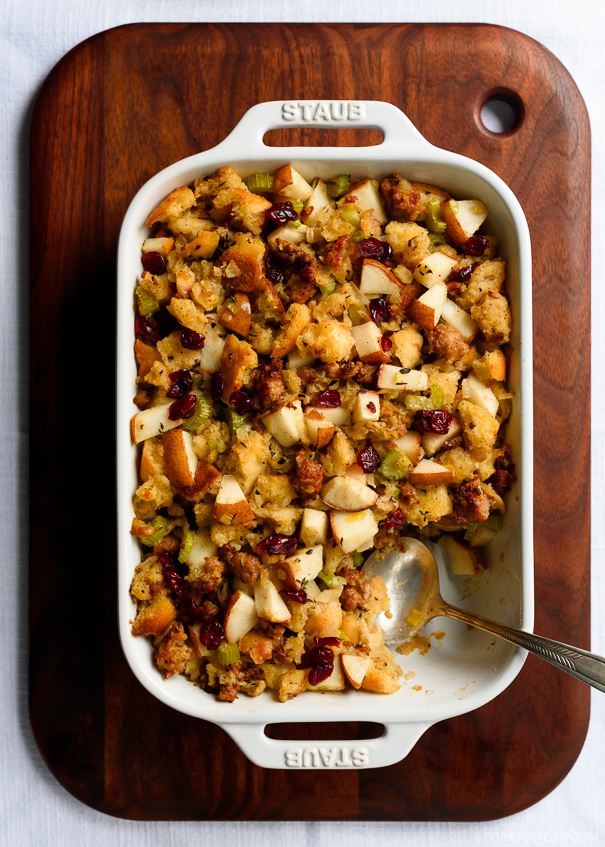 Sourdough Sausage and Pear Dressing/Stuffing with Sage and Cranberries ...