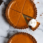 pumpkin pie with gingersnap crust by forkknifeswoon.com