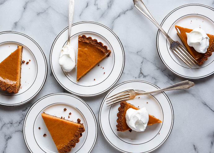 slices of pumpkin pie via forkknifeswoon.com
