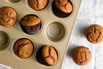One Bowl Spiced Gingerbread Muffins | Fork Knife Swoon @forkknifeswoon