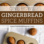 One Bowl Gingerbread Muffins | Fork Knife Swoon @forkknifeswoon