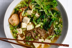 Ginger Miso Soba Soup | Fork Knife Swoon @forkknifeswoon