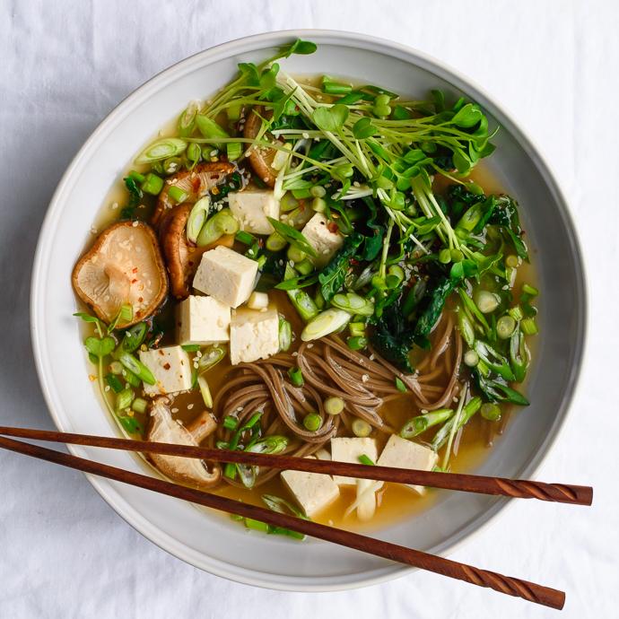 Ginger Miso Soba Soup | Fork Knife Swoon @forkknifeswoon