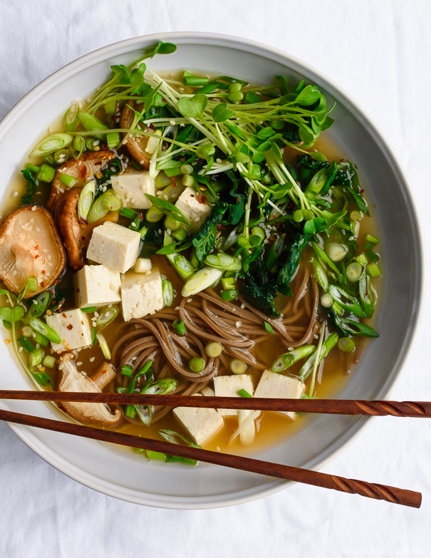 The flavorful, ginger-y miso broth can easily be made in advance, and ...
