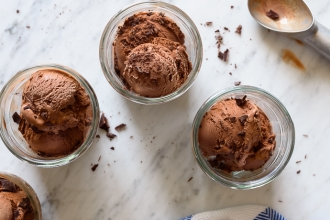 Vegan Chocolate Coffee Ice Cream! SO creamy and so delicious! | Fork Knife Swoon @forkknifeswoon
