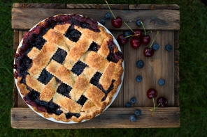 Classic Cherry Blueberry Pie