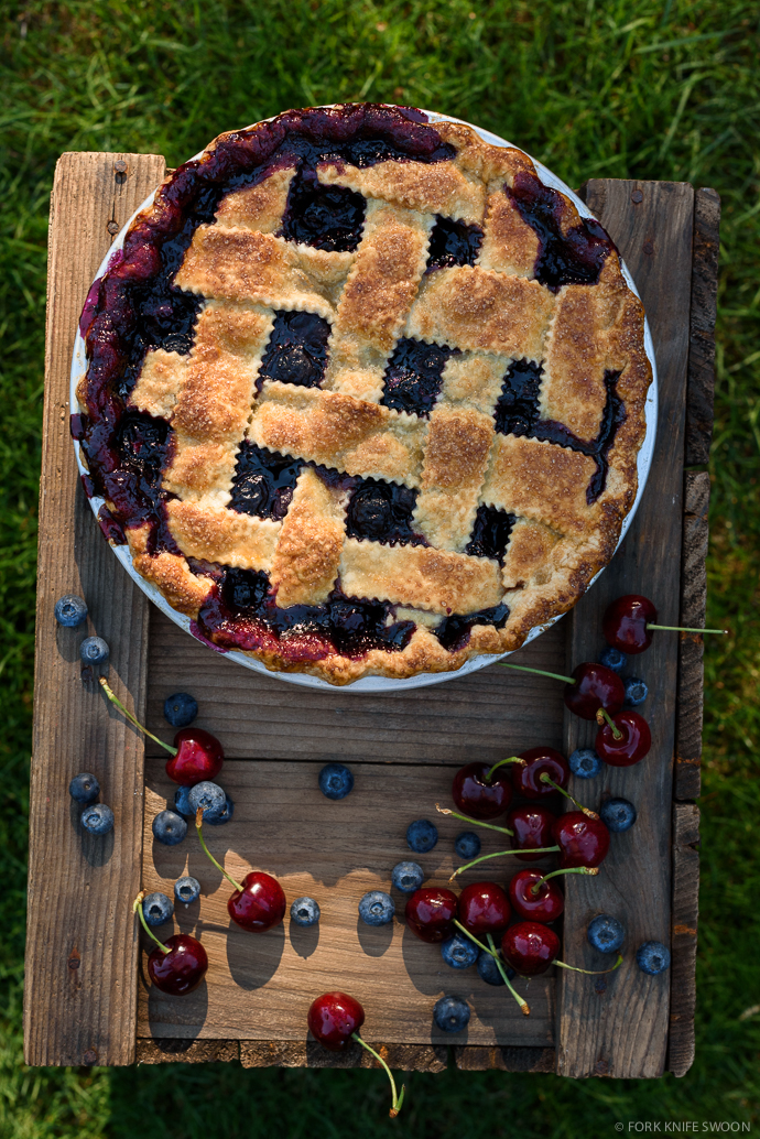 Classic Cherry Blueberry Pie | Fork Knife Swoon @forkknifeswoon