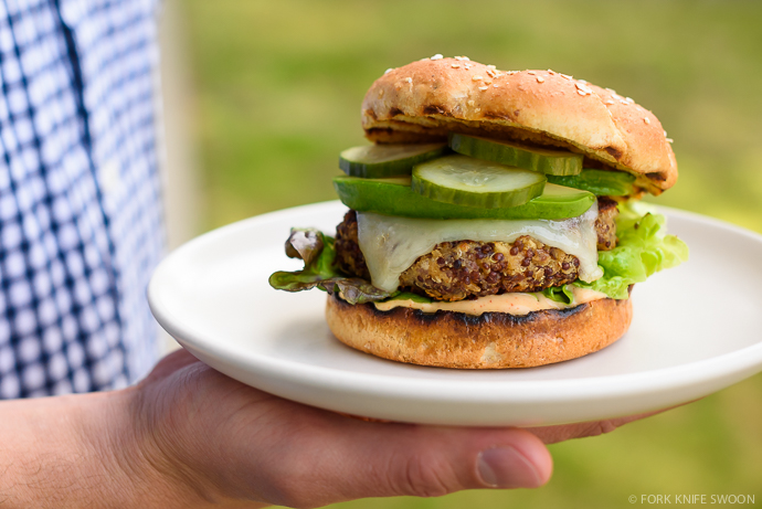 Ultimate Quinoa Veggie Burgers | Fork Knife Swoon @forkknifeswoon