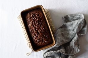 Dark Chocolate Olive Oil Zucchini Bread