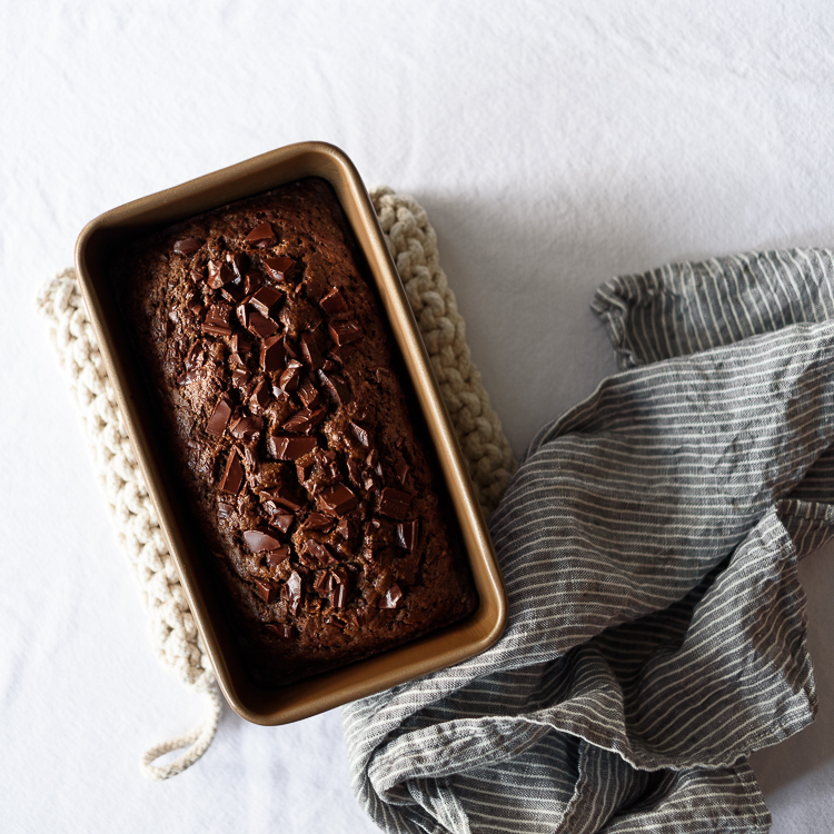 Dark Chocolate Olive Oil Zucchini Bread via forkknifeswoon.com