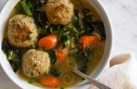 Tuscan Kale and Chicken Meatball Soup via forkknifeswoon.com @forkknifeswoon