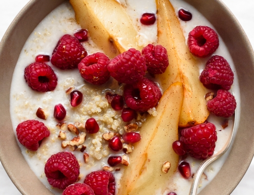 Sweet Quinoa Porridge with Maple Roasted Pears via Fork Knife Swoon @forkknifeswoon