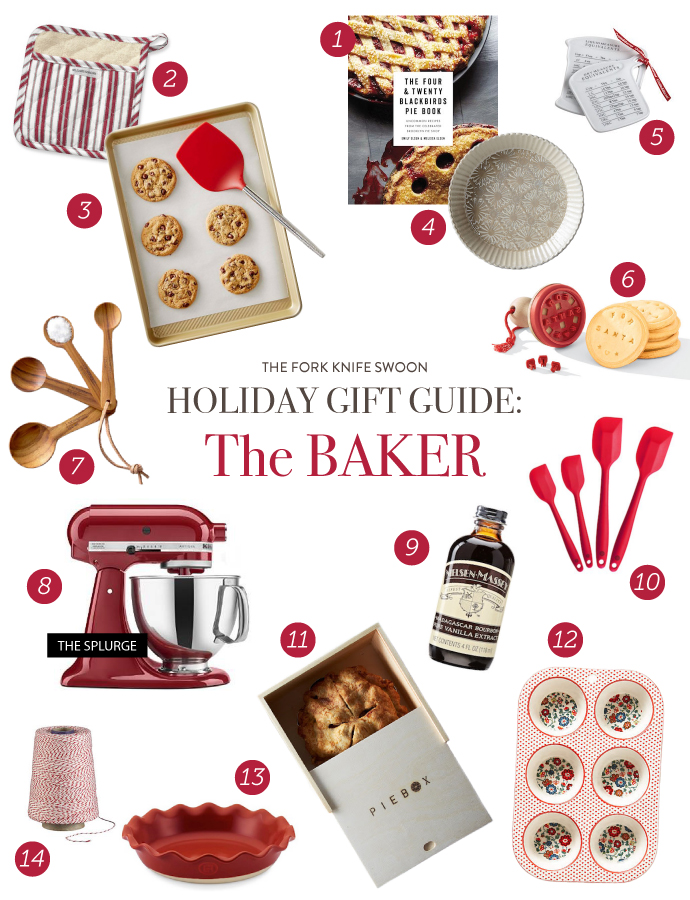 Holiday Gift Ideas for the baking obsessed! Lots of present ideas in a range of prices, from stocking stuffers to big ticket splurges that bakers will love! | via forkknifeswoon.com