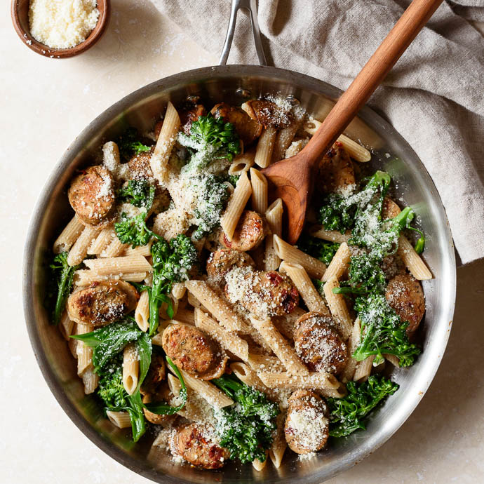 Whole Wheat Pasta with Broccoli and Chicken Sausage | via ...