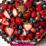 Creamy Mixed Berry No-Bake Cheesecake | via forkknifeswoon.com