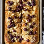 Sheet Pan Pizza with Concord Grapes, Caramelized Onions, and Goat Cheese | via forkknifeswoon.com @forkknifeswoon