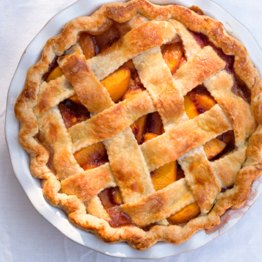 Rustic Brown Sugar Peach Pie with an All-Butter Crust   via forkknifeswoon.com @forkknifeswoon