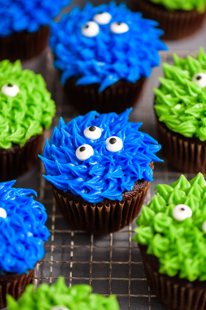 Easy Chocolate Monster Cupcakes via forkknifeswoon.com | @forkknifeswoon