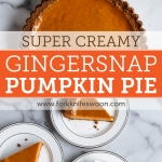 Gingersnap Pumpkin Pie: My very favorite smooth and creamy pumpkin pie recipe with a gingersnap cookie crust via forkknifeswoon.com   @forkknifeswoon