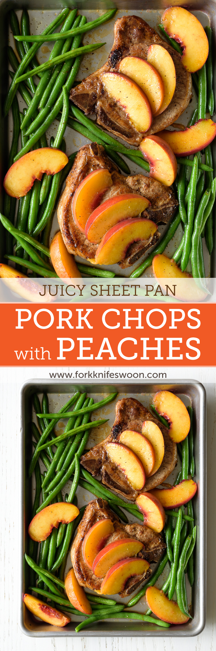 Juicy Pork Chops with Peaches via forkknifeswoon.com | @forkknifeswoon