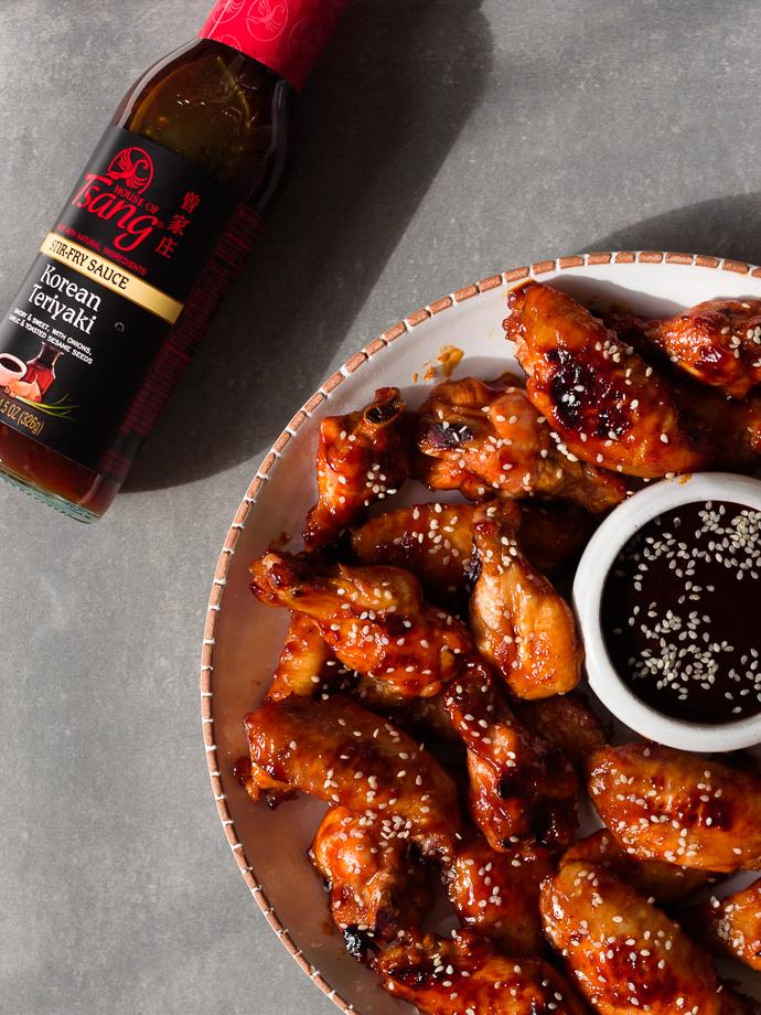 Spicy Baked Korean Teriyaki Chicken Wings via forkknifeswoon.com | @forkknifeswoon