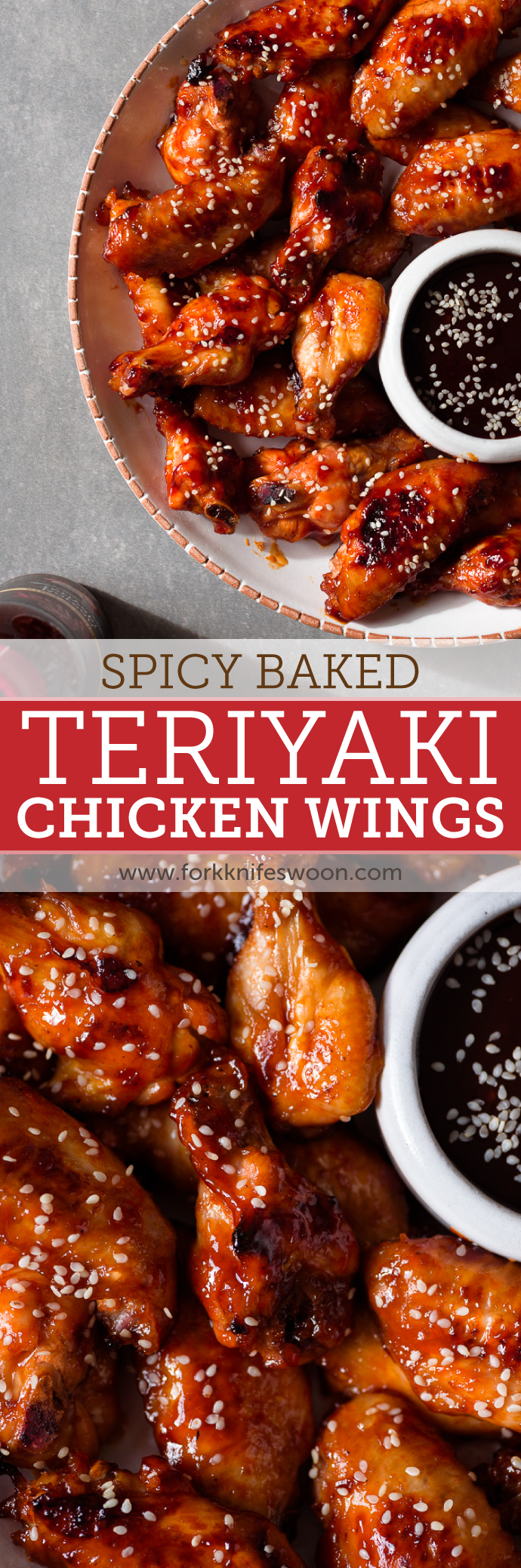 Spicy Baked Korean Teriyaki Chicken Wings: these couldn't be easier! via forkknifeswoon.com | @forkknifeswoon