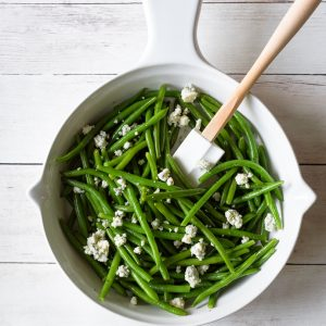 Easy Skillet Green Beans with Blue Cheese via forkknifeswoon.com | @forkknifeswoon