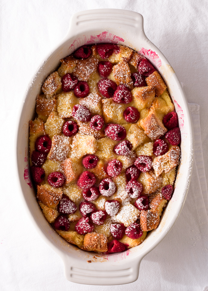 Citrus And Raspberry Brioche Bread Pudding Via Forkknifeswoon Com Atforkknifeswoon