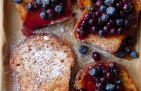 Maple Baked French Toast with Blueberries via forkknifeswoon.com | @forkknifeswoon