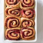 Raspberry Jam Cinnamon Rolls via Fork Knife Swoon | forkknifeswoon.com