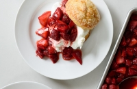 Roasted Strawberry Shortcakes with Sweet Cornmeal Biscuits via forkknifeswoon.com | @forkknifeswoon