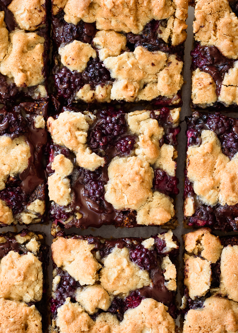 Blackberry Chocolate Fig Bars via forkknifeswoon.com | @forkknifeswoon