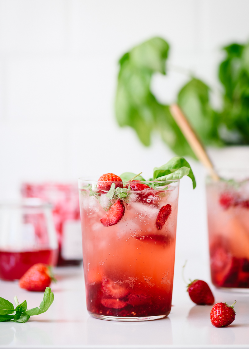 Strawberry Basil Sodas via forkknifeswoon.com | @forkknifeswoon