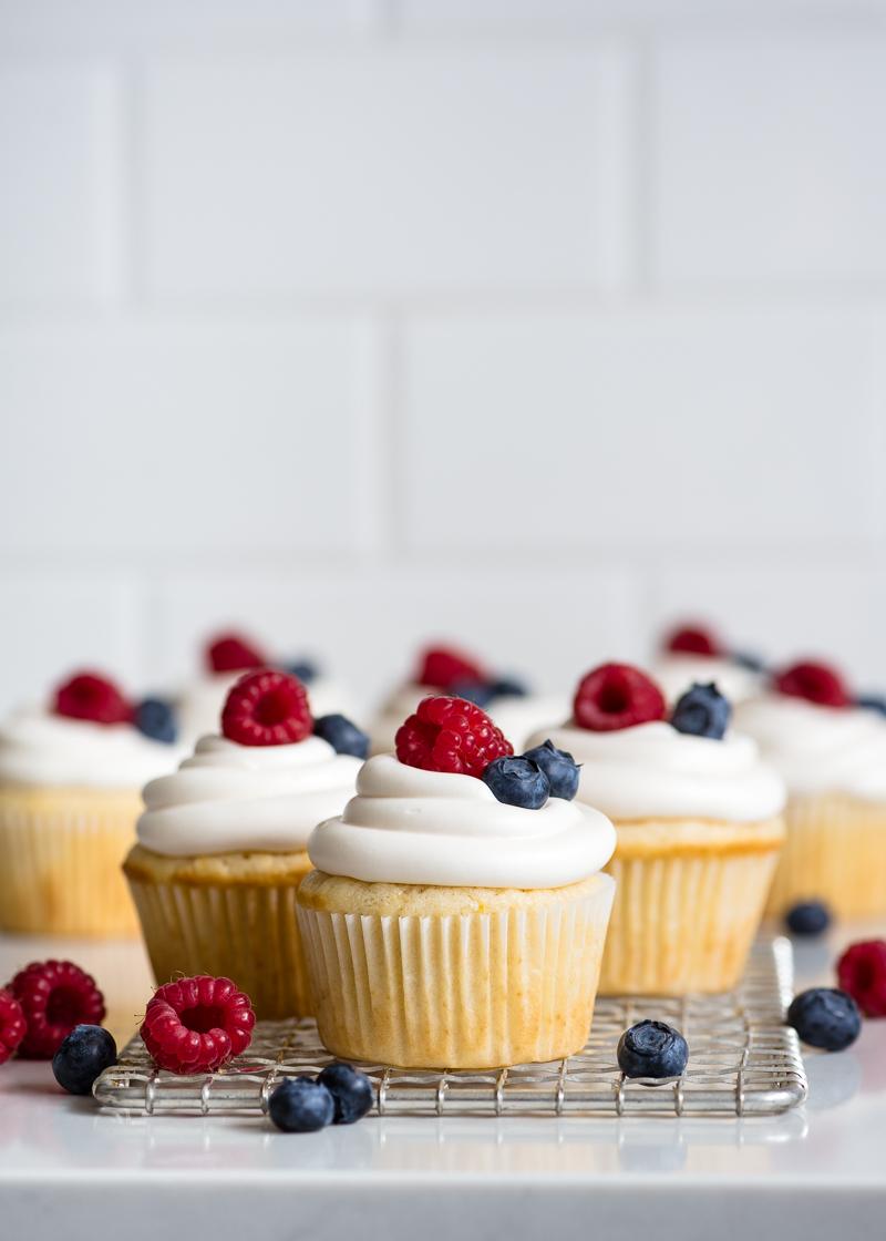 Lemon Buttermilk Cupcakes via forkknifeswoon.com | @forkknifeswoon