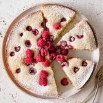 Simple Raspberry Lemon Poppy Seed Cake via forkknifeswoon.com