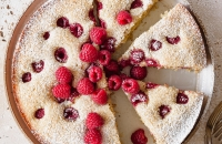 Simple Raspberry Lemon Poppy Seed Cake via forkknifeswoon.com