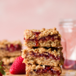 Easy Strawberry Jam Crumble Bars via forkknifeswoon.com